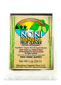 Noni Banana Fruit Leather 1 oz